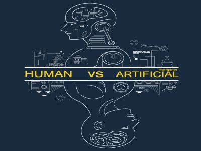 Human versus artificial intellegence