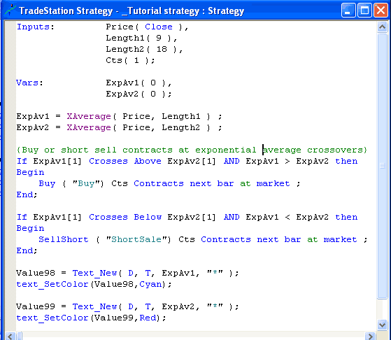 best day trading platform: tradestation easy language programming language code example